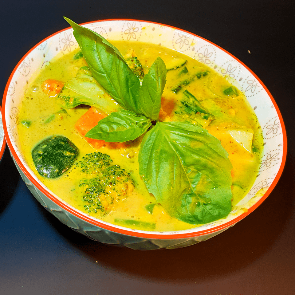 vegan yellow curry, once upon a thai, meath